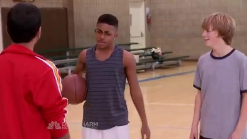 - Yeah! Tom Haverford. - You suck at basketball, man.