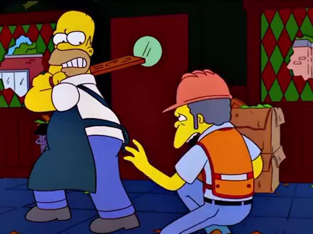 Hey, Homer, stop! Stop! It's me!