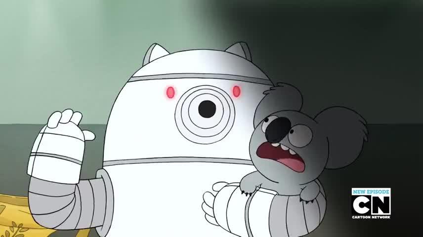 - [Robotic] Cutest! - No, stop! Aah!!