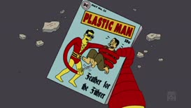 Plastic man powers-- absorb!