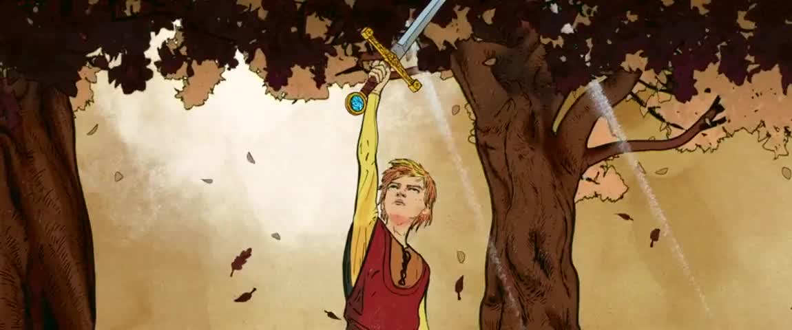 Arthur grew into a great king.