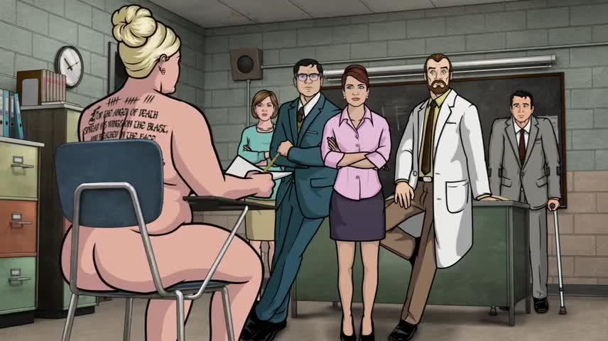 Archer cartoon pam porn