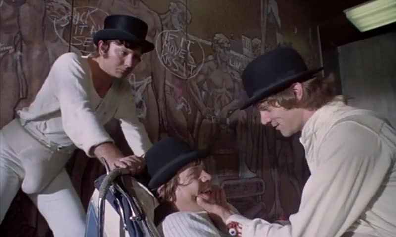 """a clockwork orange good riddance to A clockwork orange ends with """"the phrase 'as queer as a clockwork orange' is good old east which burgess used to refer to as """"clockwork."""