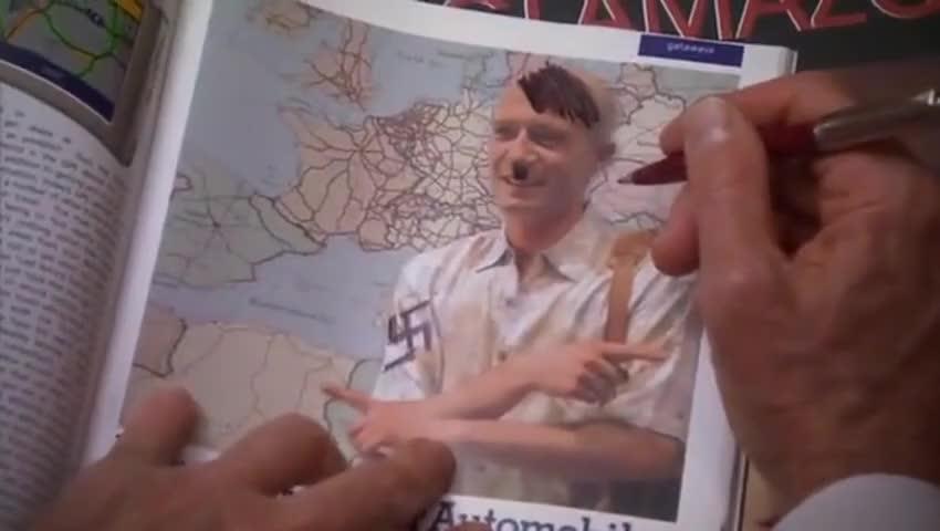 That's a Hitler mustache. That's Hitler hair.