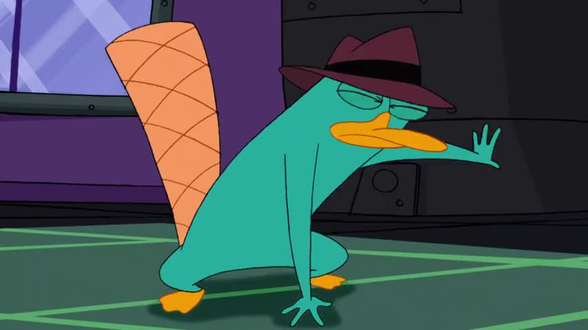Clip image for 'Ah, Perry the Platypus, what an unexpected surprise.