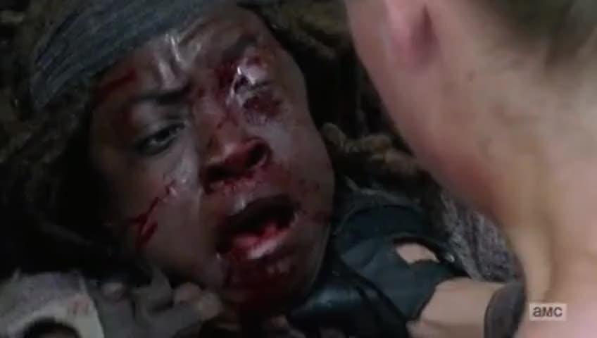 Michonne: [Choking]