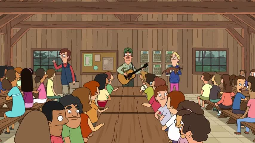 And then you all sing ♪ Weasel, weasel ♪
