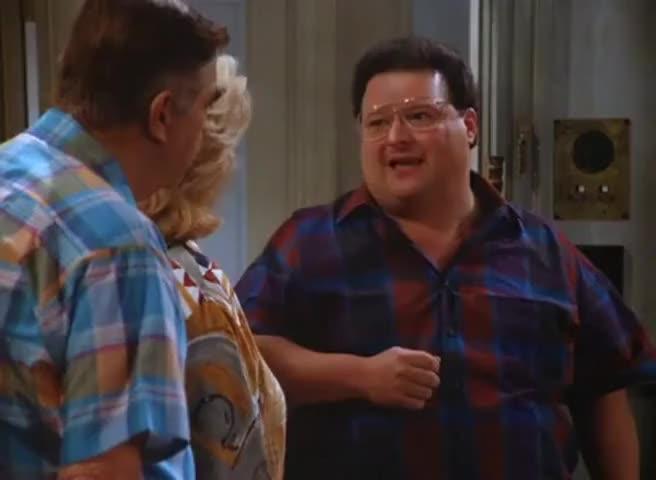 Him and his buxom little friend, Rachel...