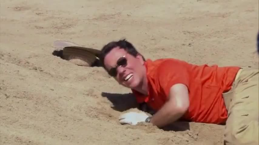 I fell in the sand trap.