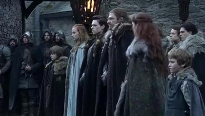 Clip image for 'Where's Arya? Sansa, where's your sister?