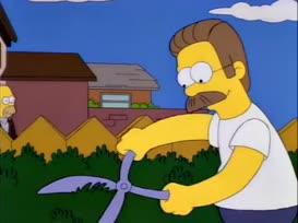 Hey, Flanders! You smell like manure!