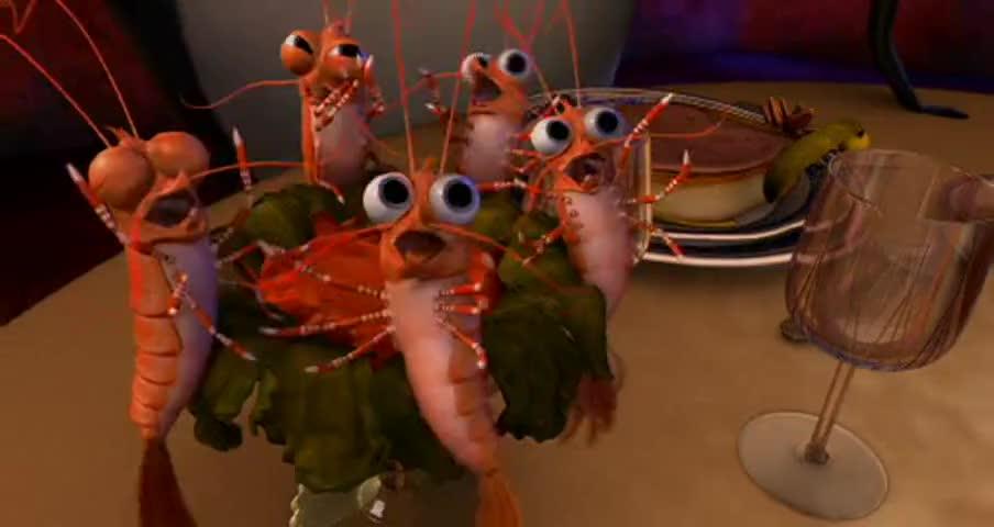 Put the shrimp down!