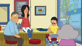 """Quiz for What line is next for """"Bob's Burgers - S08E12 The Hurt Locker""""?"""