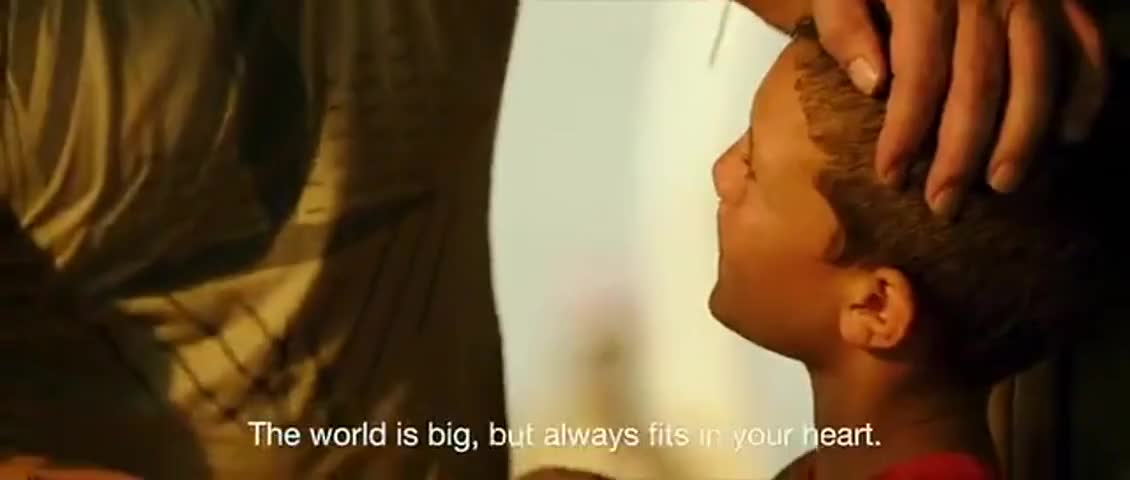 The world is big, but always fits in your heart.