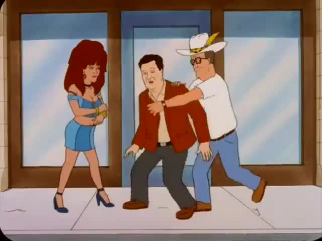 Hey, don't you ever lay your hands on a lady. You understand?