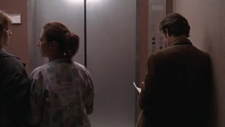 [elevator dings]