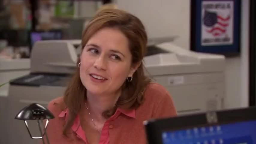 Pam is a solid seven.