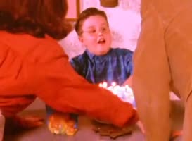 - Stop it, Frank! You're killing him! - Blow out the candles!