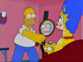 Homer, you've got it set on ''whore.''