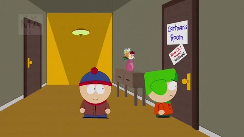 Cartman, open this door right now!