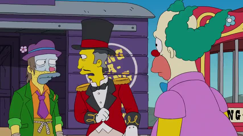 (crying): Please, I'm not Krusty anymore.