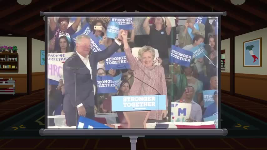 That's me with Hillary!