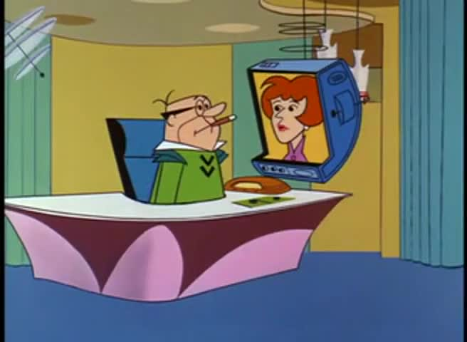 A Mr. Spacely is on his way in, Mr. Cogswell.