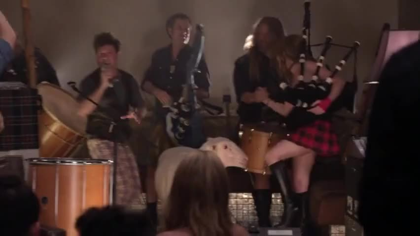 And tonight on bagpipes...