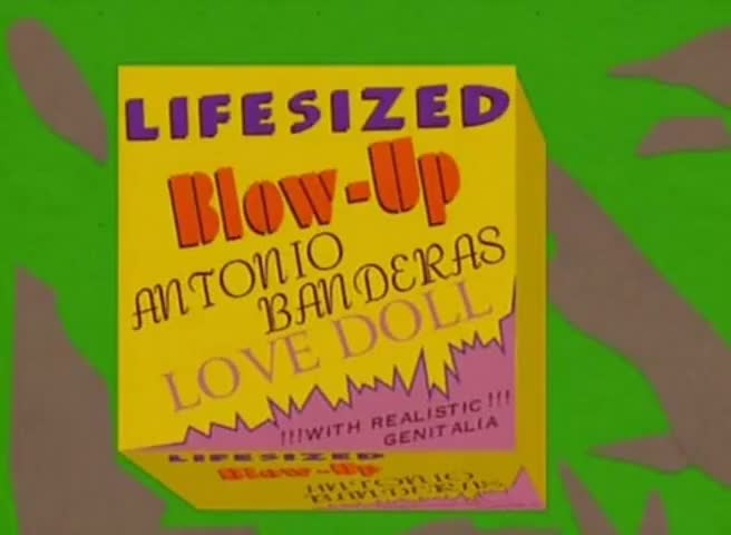 Clip image for 'Oh, sweet! Life-sized blow-up Antonio Banderas love doll!