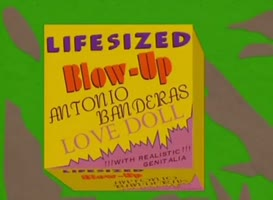 Clip thumbnail for 'Oh, sweet! Life-sized blow-up Antonio Banderas love doll!