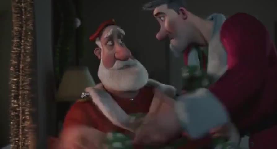 l'm Santa, you naughty boys. Here, have a bonbon.