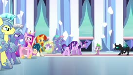 Spike, get away from the Changeling!