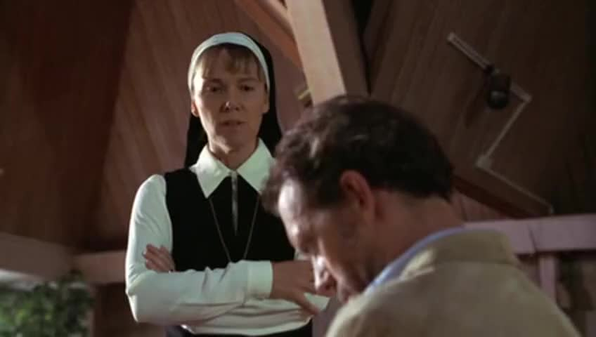 Sister Augustine believes in things that aren't real.