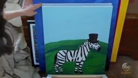 """""""Zebra in Shorts,"""""""