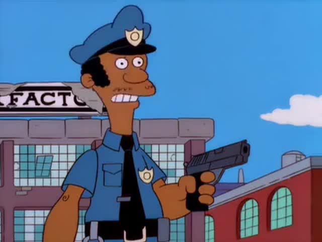 Hey, Chief, can I hold my gun sideways? It looks so cool.