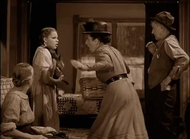 -You go away or I'll bite you myself! Dorothy!