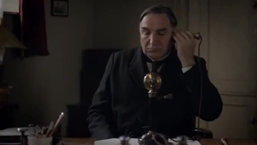 Clip image for 'Hello, this is Mr Carson, the butler of Downton Abbey.