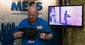 A grenade launcher that shoots glue foam.