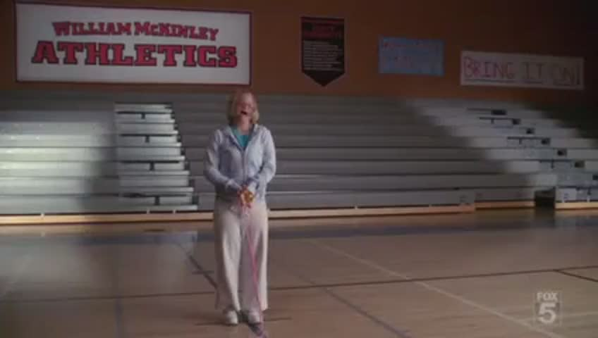 I heard that you do a routine with jump ropes.