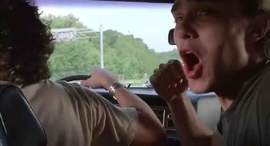 He can't pull over any farther!