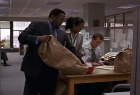 - Those two bags there. - Yes, ma'am.
