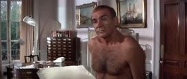 Mr. Bond, I need a urine sample.