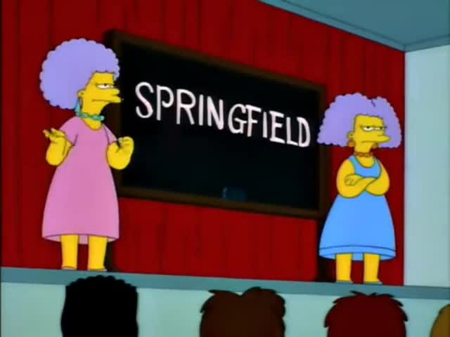 So we propose changing our name from Springfield to Seinfeld.