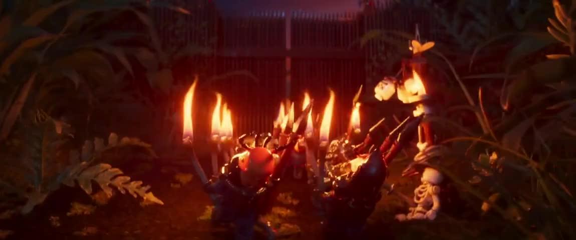 Yarn | FIRED GENERALS : (SINGING) We've got Garmadon ~ The Lego