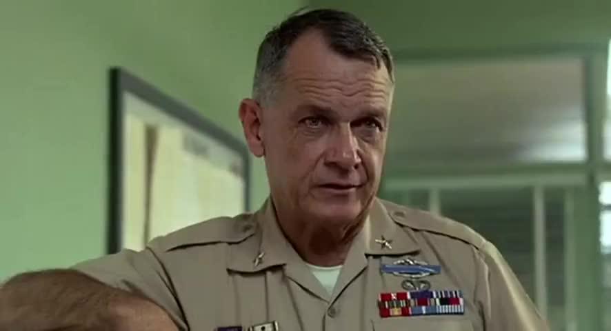 Captain Hauk sucks the sweat off a dead man's balls.