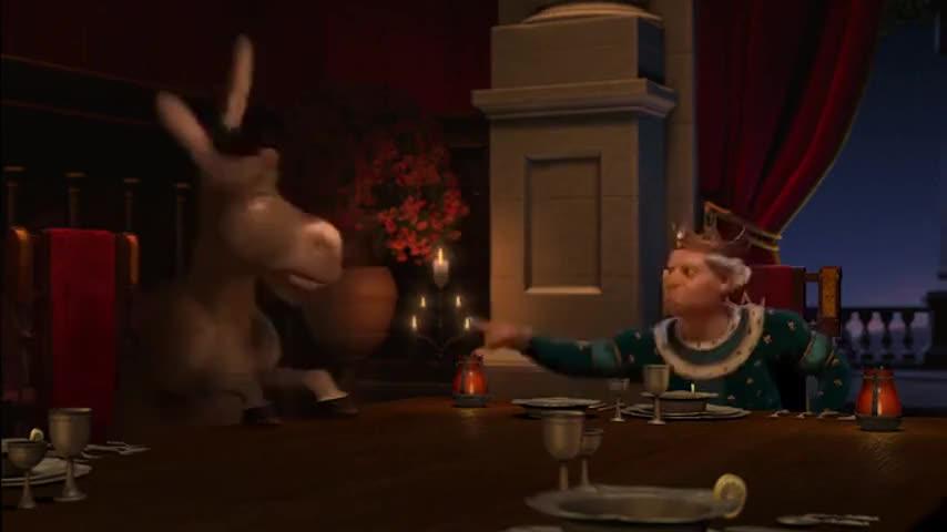 No! No! Bad donkey! Bad! Down!