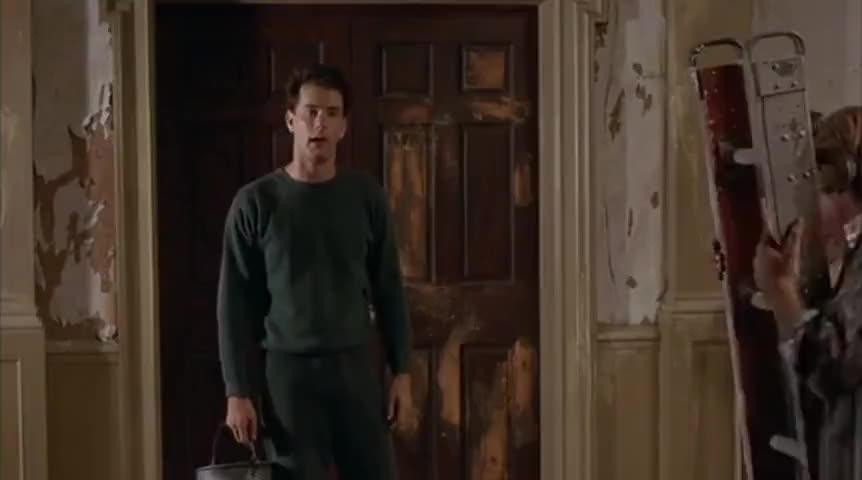 - The hallway. Blue, right? - I want nothing blue. Nothing!