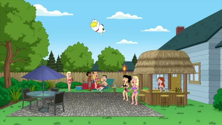 Quagmire doesn't have a swimming pool.
