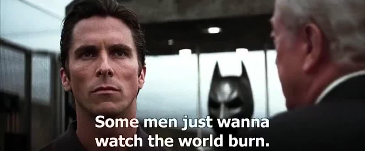 Yarn Some Men Just Wanna Watch The World Burn Batman The Dark