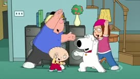 ♪ Lucky there's a family guy ♪